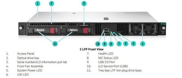 HPE ProLiant DL20 Gen10 P17077-B21 Rack Server