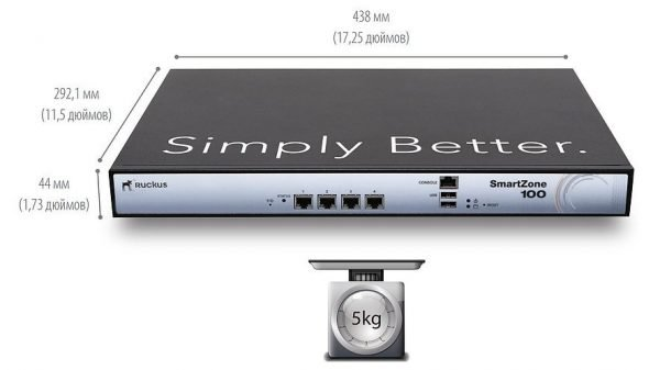 P01-S104-EU00 Ruckus SmartZone 100 Network management device - GigE - 1U